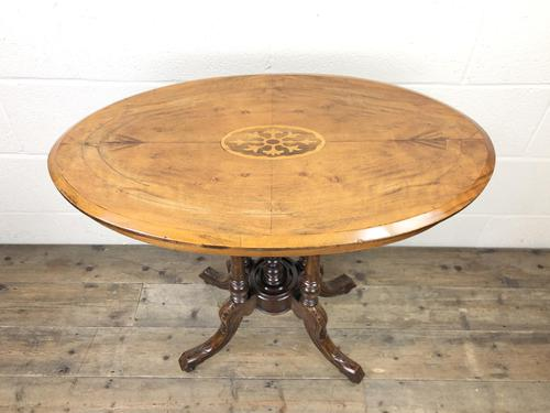 Victorian Walnut Oval Tilt Top Occasional Table (1 of 11)