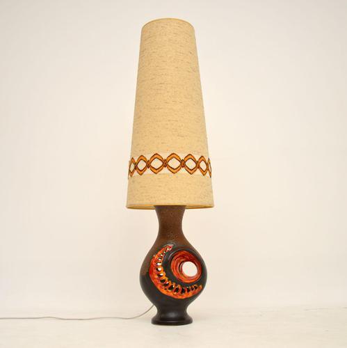 1960's Vintage German Ceramic Table Lamp (1 of 8)