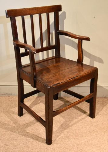 Country Oak Vernacular Armchair (1 of 4)