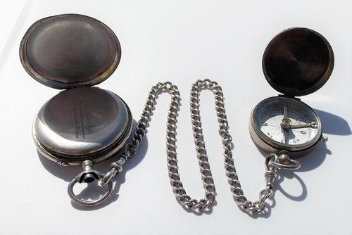 Victorian Solid Silver Omega Gurzelen Pocket Watch & Solid Silver Albert Chain (1 of 8)