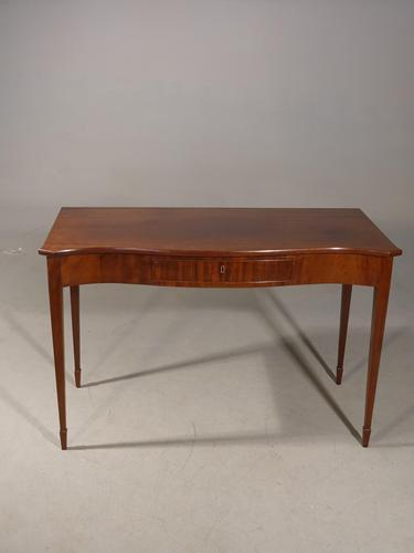 Elegant George III Period Serpentine Mahogany Serving Table (1 of 5)