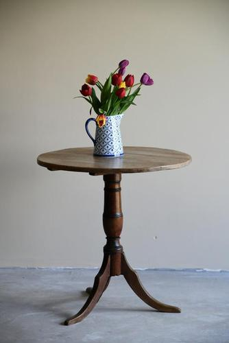 Rustic Oak Occasional Tripod Table (1 of 12)