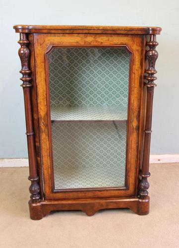 Antique Victorian Burr Walnut Display Cabinet (1 of 9)