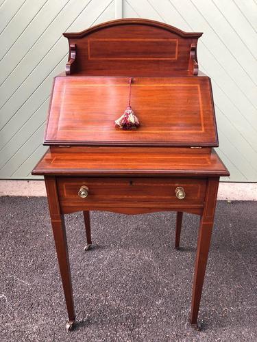 Edwardian Inlaid Mahogany Writing Desk (1 of 10)