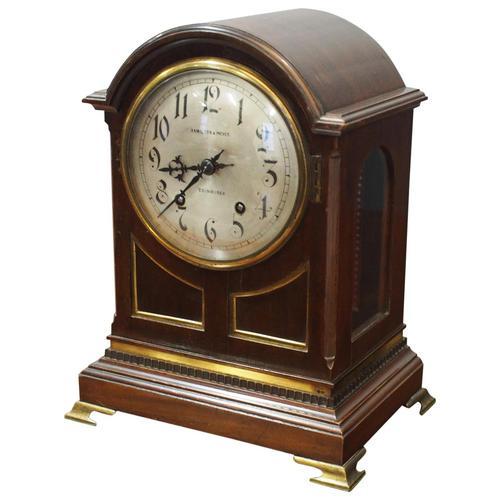 Inlaid Mahogany Mantel Clock by Hamilton & Inches (1 of 5)
