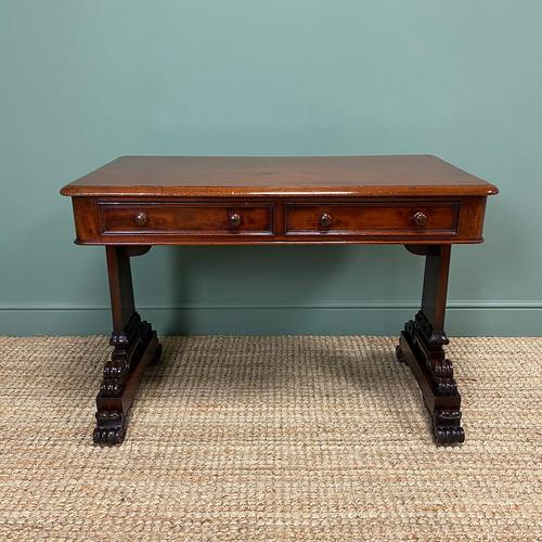 Quality Victorian Mahogany Antique Writing Library Table (1 of 6)