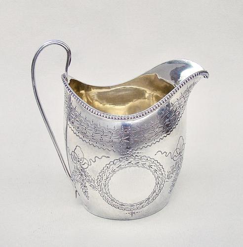 Georgian Silver Cream Jug by Peter & Ann Bateman, London 1796 (1 of 7)