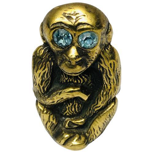 Small Brass Monkey Vesta Match Holder With Glass Eyes (1 of 17)