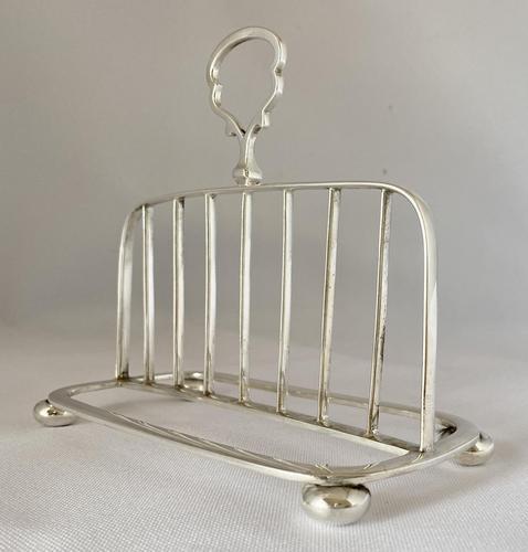 Unusual Silver Plated Toast Rack c.1900 (1 of 6)