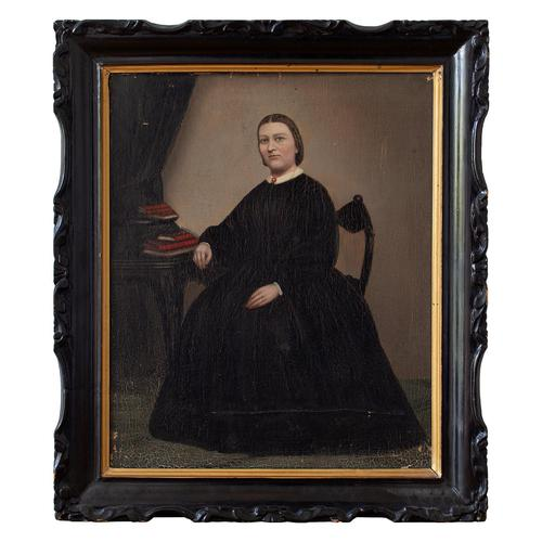 19th Century Swedish School Portrait Of Maria Birgitta, Oil Painting (1 of 10)