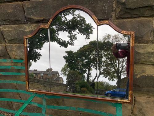 Antique Walnut & Parcel Gilt  Wall Mirror (1 of 6)