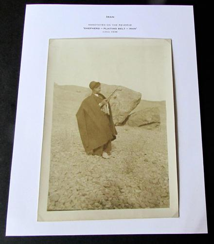 Original Large Middle East Photograph of A Shepherd in Iran c.1930 (1 of 3)