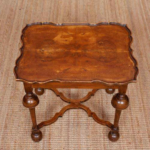 Walnut Side Table Continental Queen Anne Carved Lamp Table (1 of 12)