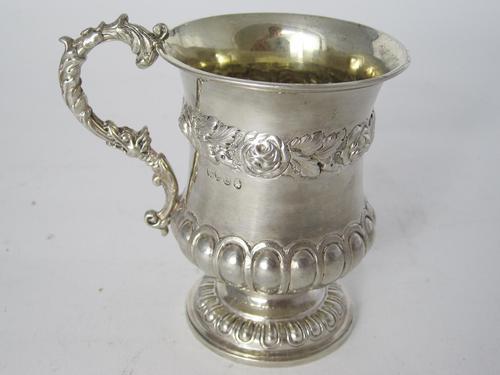 Good Quality Georgian Campana Shaped Christening Mug (1 of 8)