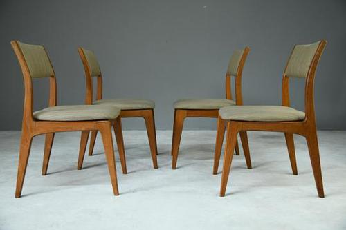 Set of 4 Retro Teak Dining Chairs (1 of 8)