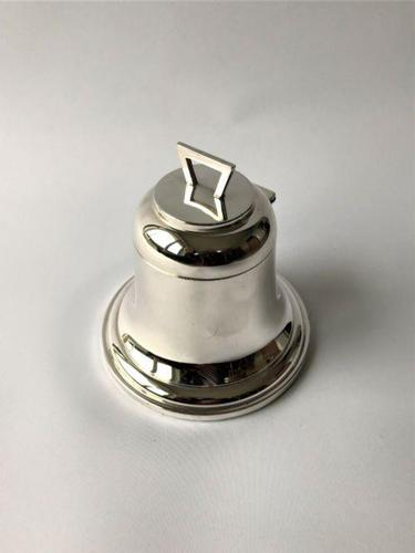 Handsome Novelty Silver 'Bell' Inkwell (1 of 6)