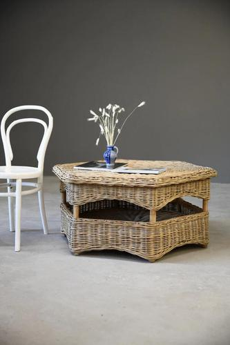 Large Natural Wicker Coffee Table (1 of 12)