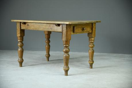 Rustic Pine Kitchen Table (1 of 1)
