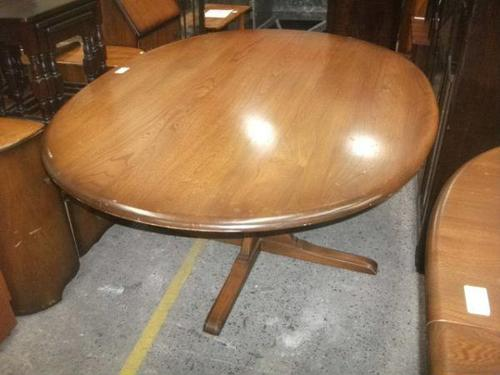 Large Ercol Pedestal Dining Table (1 of 3)