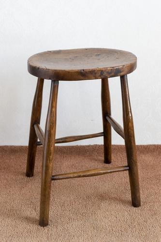 Victorian Antique Stool with a Wonderful Figured Top (1 of 4)