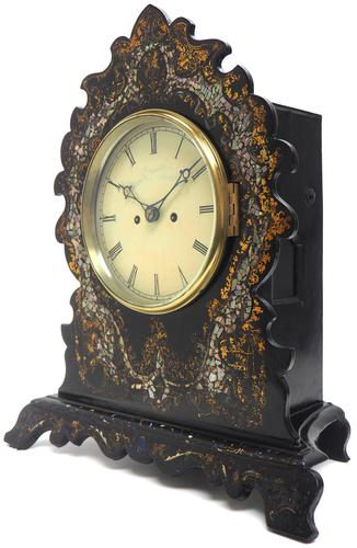 Antique English 8 Day Twin Fusee Bracket clock 8-Day Striking Double Fusee Mantel Clock by H J Wallis (1 of 5)