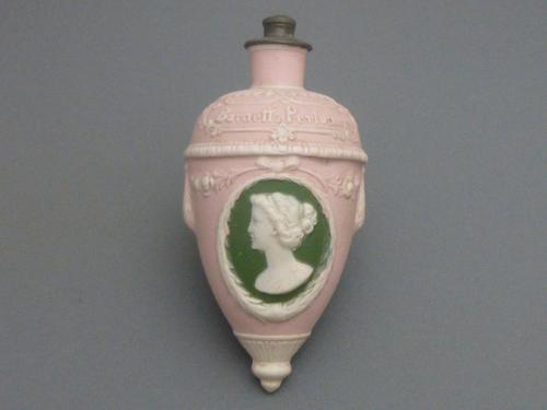 Victorian Jasperware Footed Perfume Bottle (1 of 6)