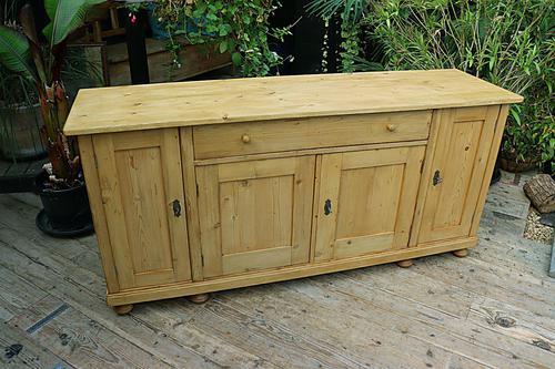 Big! Old 2m Pine Dresser Base / Sideboard / Cupboard / TV Stand - We Deliver! (1 of 13)