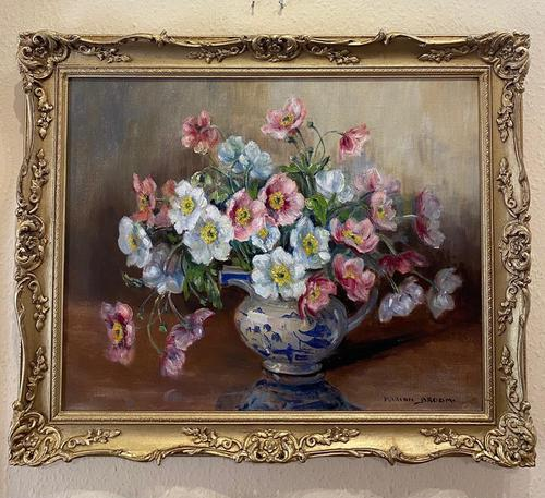 """Oil on Canvas """"A Floral Study"""" by Marion Broom (1 of 4)"""