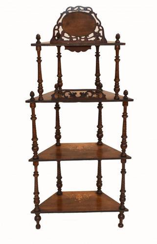 Victorian Whatnot Bookshelf Antique 1860 Furniture (1 of 13)