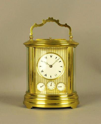 Oval Repeating Carriage Clock with Calendar & Alarm (1 of 10)