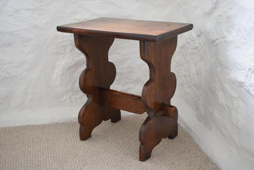 Small Antique Peg Jointed Oak Side Table (1 of 9)