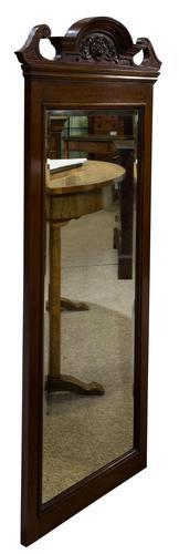 Edwardian Mahogany Wall Mirror (1 of 6)