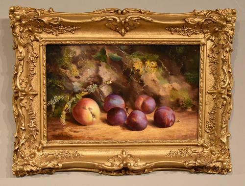"""Oil Painting by William Hughes """"Victoria Plums"""" (1 of 5)"""