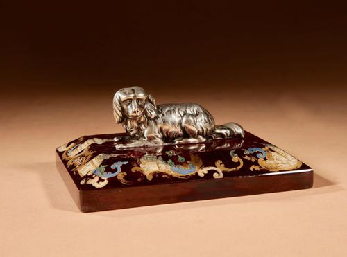 """Amusing and Decorative German """"silver"""" and Rubin Glass Press Papier (1 of 8)"""