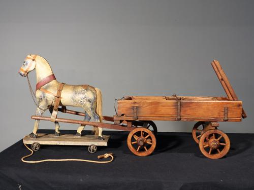 Attractive Late 19th Century German Horse & Cart (1 of 8)