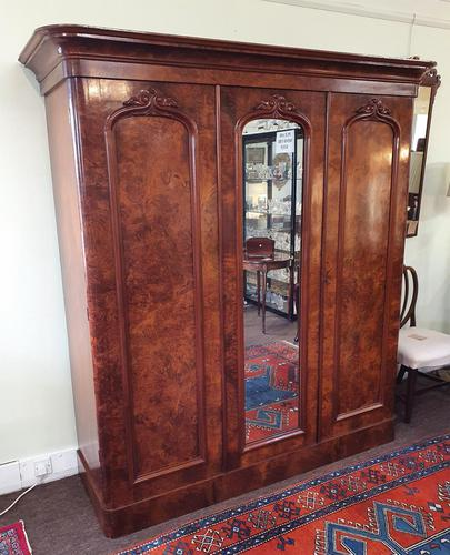 Victorian Scottish Burr Walnut Wardrobe (1 of 7)