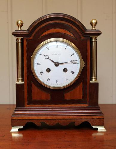 Mahogany & Satinwood Mantel Clock by Maple & Co (1 of 6)