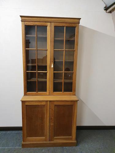 Oak Cupboard Bookcase (1 of 4)