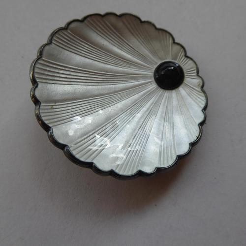 Silver & Enamel Norwegian Shell Brooch (1 of 9)