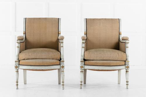 19th Century Pair of French Painted Chairs (1 of 10)