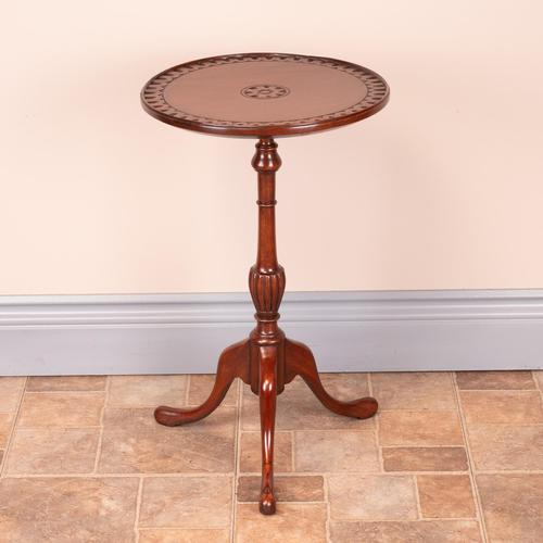 Mahogany Carved Top Wine Table (1 of 6)