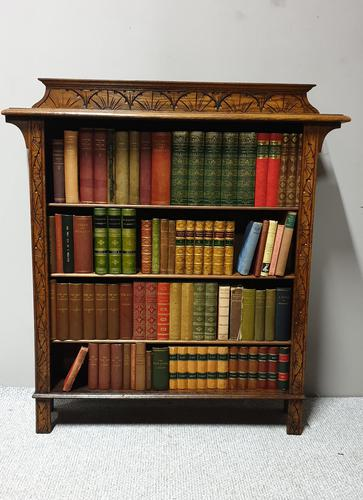 Golden Oak Open Adjustable Bookcase (1 of 5)