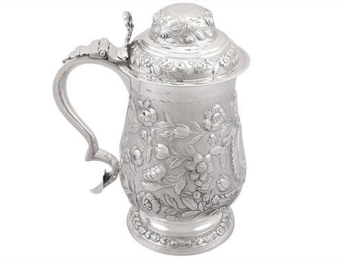 Sterling Silver Quart & Half Tankard - Antique George IV 1820 (1 of 15)