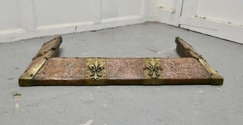 Arts and Crafts Victorian Brass and Copper Fender (1 of 5)
