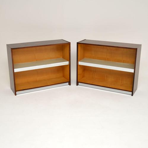 Pair of Rosewood & Chrome Bookcase / Cabinets by Merrow Associates (1 of 12)