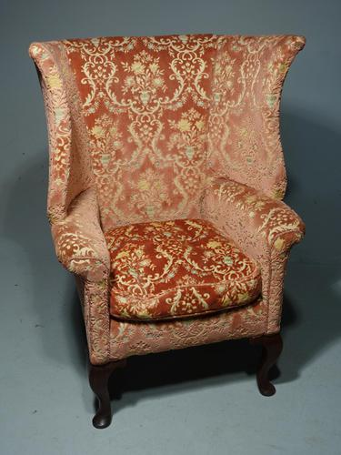 A Fine and Well Shaped Late 19th Century Mahogany Framed Wing Chair (1 of 4)