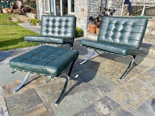 Pair of Barcelona Chairs & Ottoman (1 of 30)