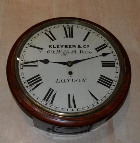 Fusee Dial Wall Clock Kleyser & Co London (1 of 4)