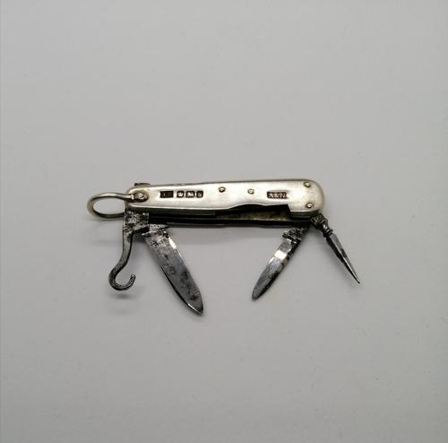 Antique Silver Multi Bladed Pocket Knife (1 of 5)