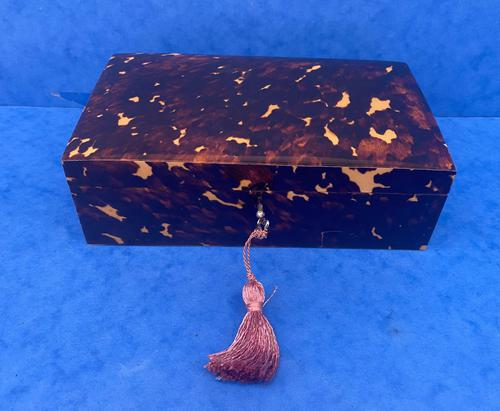 1960s Tortoiseshell Fitted Jewellery Box (1 of 8)